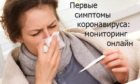Первые симптомы коронавируса: Мониторинг в мире онлайн